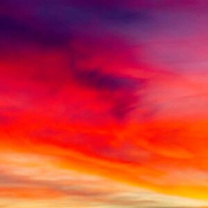 Cores do céu no pôr do sol