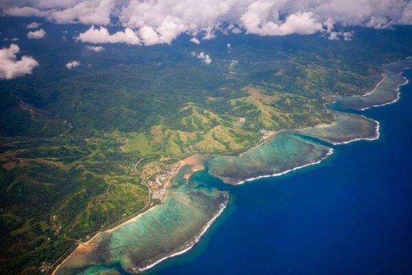 Vista aérea ilhas Fiji