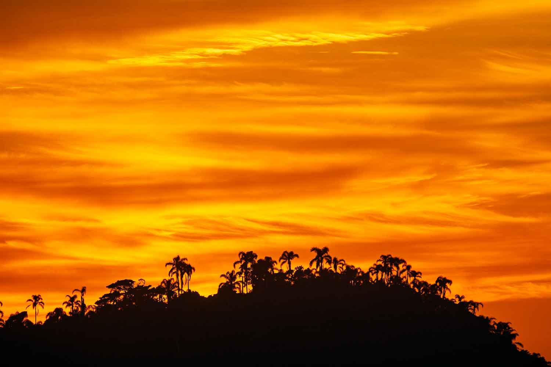 Nascer do sol com detalhes da ilha do Campeche feita em novembro de 2018