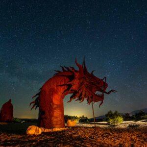 Escultura dragão de ferro localizada em Borrego Springs Califórnia