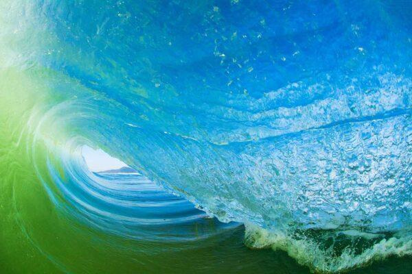 Foto de uma onda dentro de um tubo