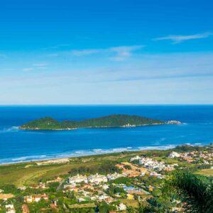 Foto aérea da ilha do Campeche