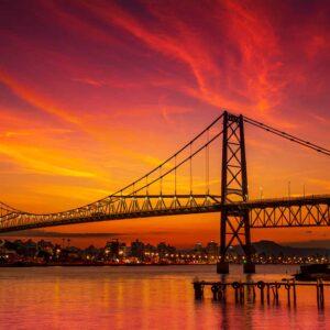 Ponte Hercílio Luz Pôr do Sol